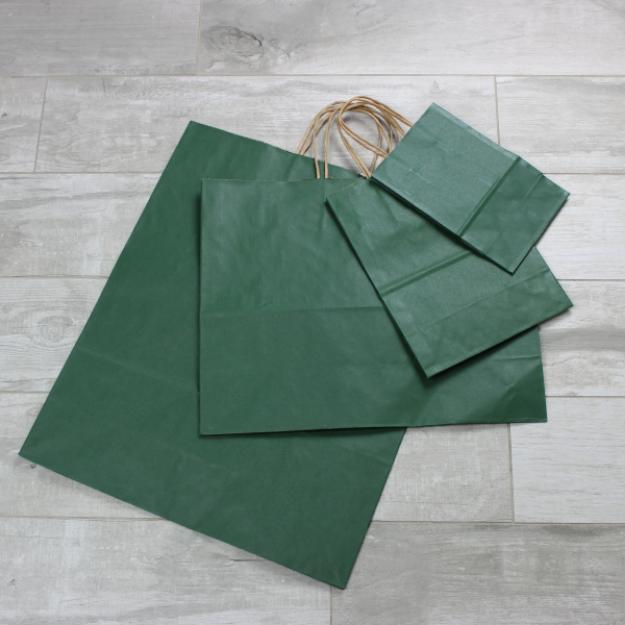 Picture of Kraft Paper Bags - Dark Green