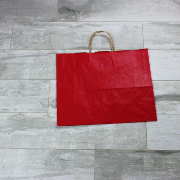 Picture of Kraft Paper Bags - Red