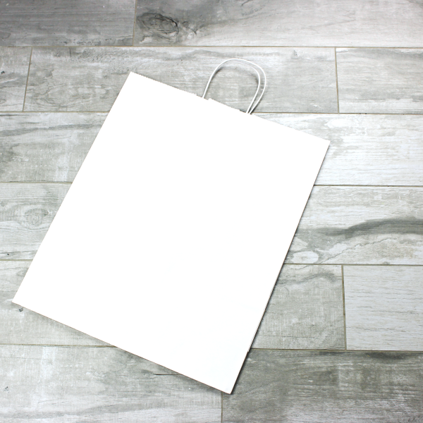 Picture of Kraft Paper Bags - White